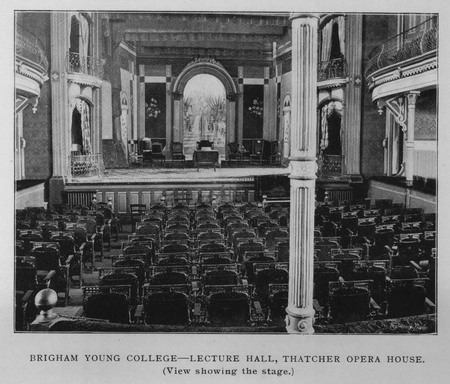 Thatcher Opera House - View showing the stage
