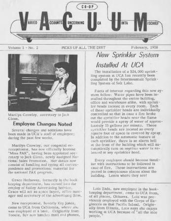 Varied Accounts Concerning Uca Uinta Mischief (VACUUM), Volume 1, Number 2, February 1958