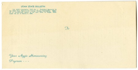 Alumni homecoming bulletin, 1947