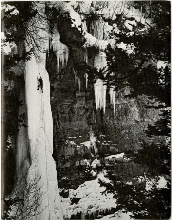 Lowe Alpine Systems, ice climbing, undated