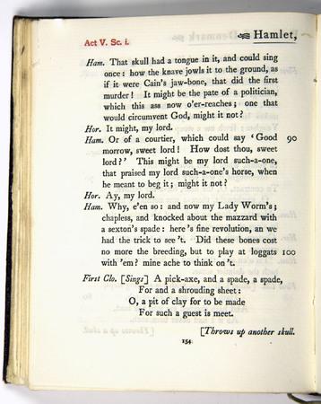 Hamlet, Act 5 Scene 1, e