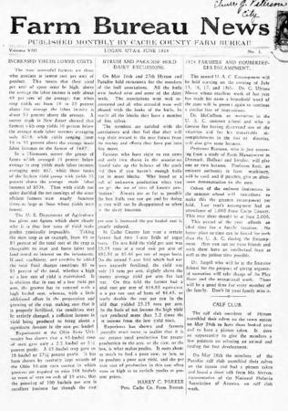 Farm Bureau News, Cache County, Volume VIII, Number 1, June 1924