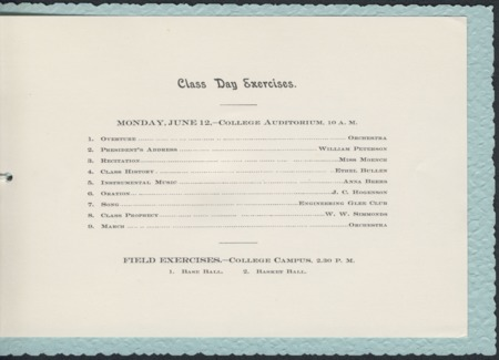 1899 UAC Commencement Invitation, Page 3