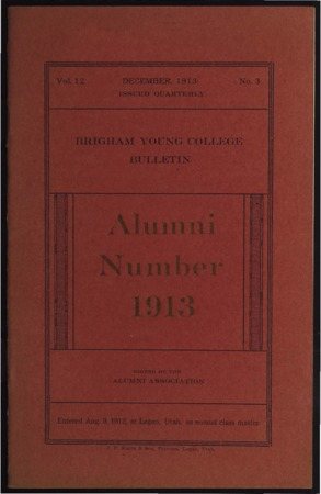 Brigham Young College Bulletin, December 1913
