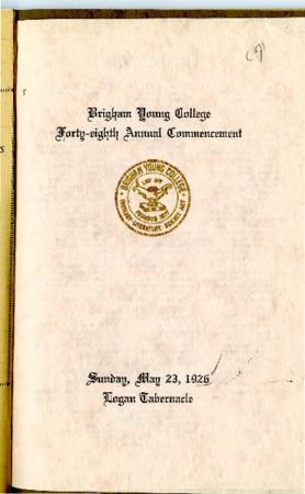 48th Commencement Program, May 23, 1926
