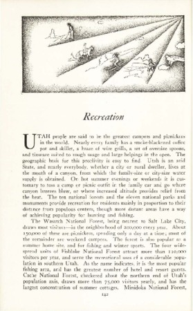 Utah State Guide p. 142, Recreation Section