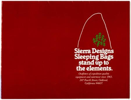 Sierra Designs, Sleeping Bags, 1983