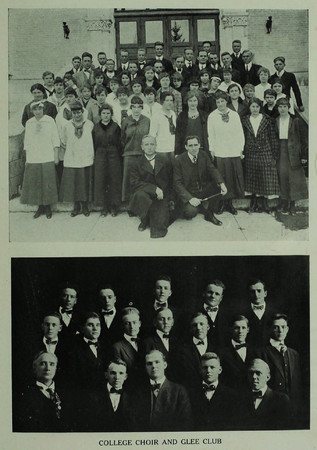 BYC Choir and Glee Club (1916 Crimson Annual)