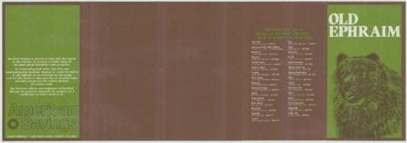"""American Savings """"Old Ephraim"""" brochure"""