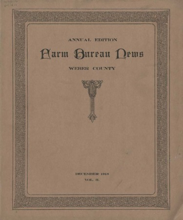 Farm Bureau News, Weber County, Volume II, December 1918