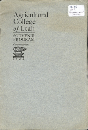 1908 UAC Commencement Program Cover