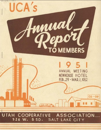 UCA's annual report to members, 1951