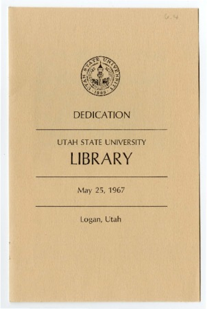 Program for the Dedication of the USU Library<br />