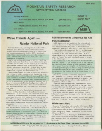 Mountain Safety Research, 1977