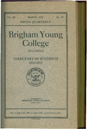 Brigham Young College Directory of Students 1912-13