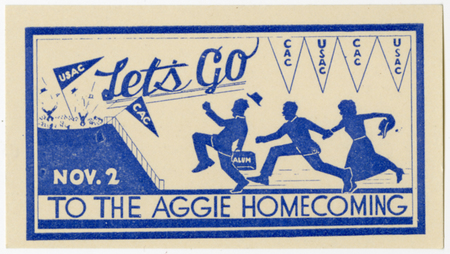 Homecoming football game ticket