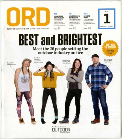 Outdoor Retailer Daily, Best and Brightest, 2017