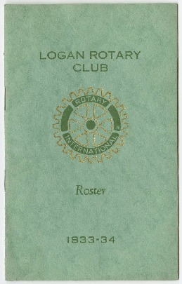 Logan Rotary Club Roster, 1933-34