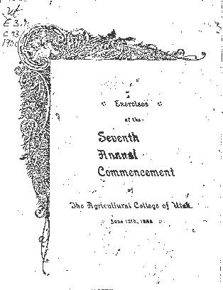 1900 UAC Commencement Program