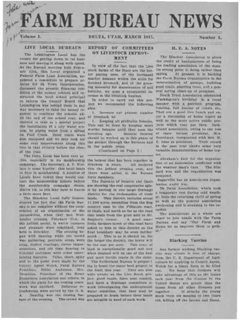 Farm Bureau News and Farm Bureau News Bulletin, Millard County, 1917-1920