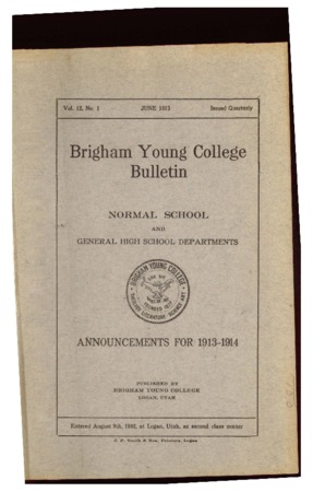 Brigham Young College Bulletin, June 1913