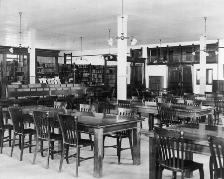 Library Reading Room interior view, circa 1909