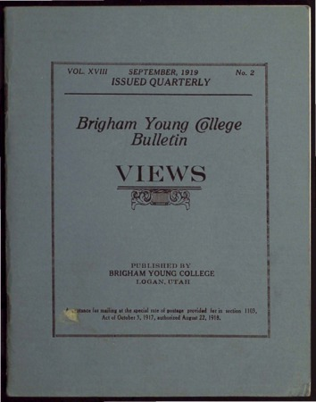 Brigham Young College Bulletin, September, 1919