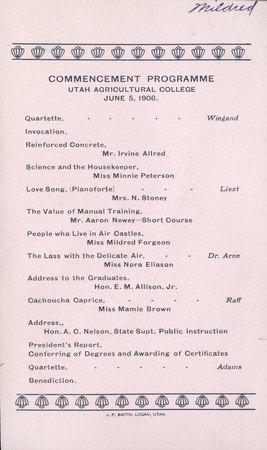 1906 UAC Commencement Program