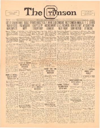 The Crimson, September 30, 1924