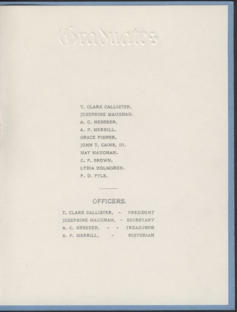 1903 UAC Commencement Program Page 2