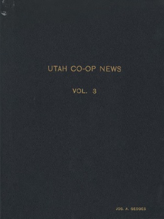 Utah Cooperative News, January 15, 1939, Vol. 3, No.1